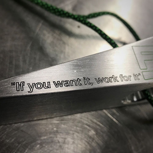 "FFPG 8 WEDGE® ""If you want it, work for it"""
